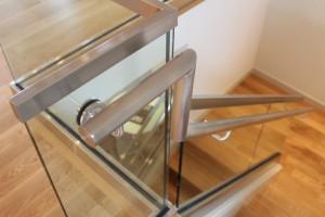 Glass railings, railing